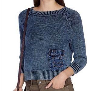 Karen Millen Denim Inset Sweater RARE